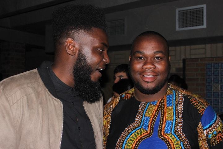 Black guys at Afrobeats event