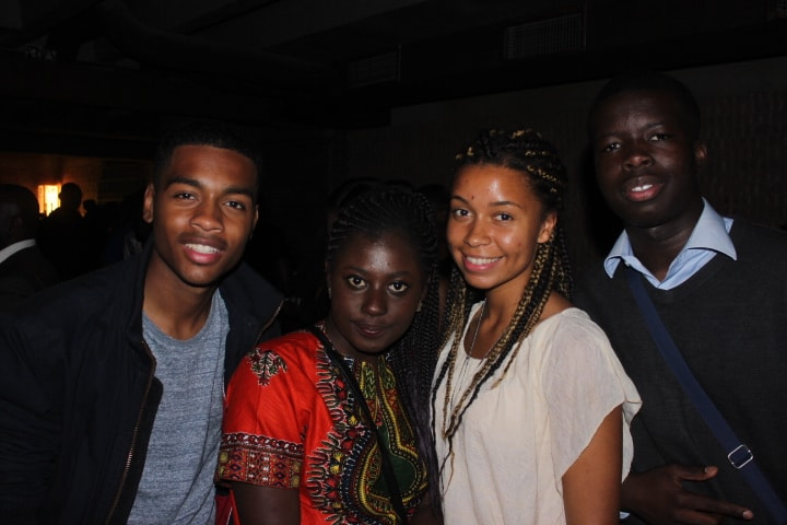 Young people at Afrobeats event