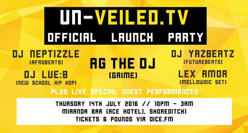 Un-Veiled.TV Launch Party Header