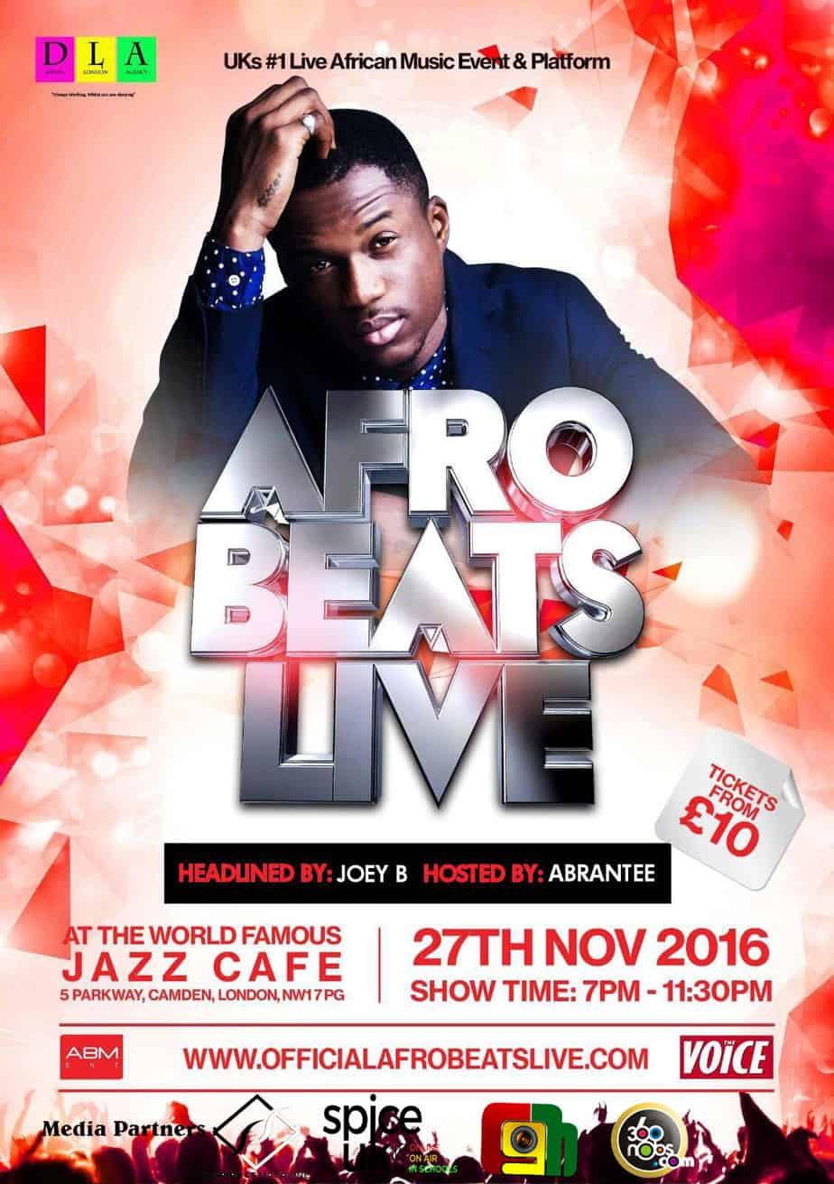 Afrobeats Live flyer