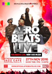 new-age-musik afro beats live