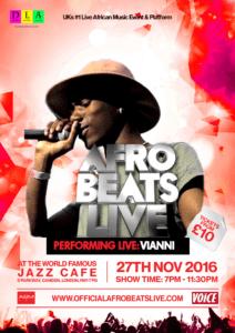 vianni afrobeats live