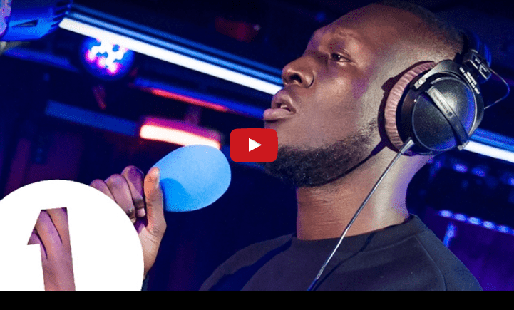 Stormzy on the mic