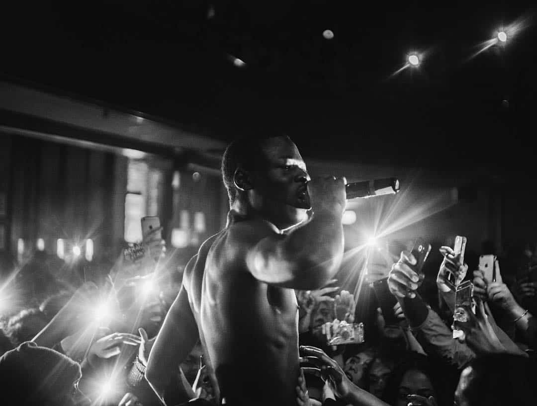 J Hus performing his afro-swing sound at his headline show photo credits: instagram.com/jeaniq_/
