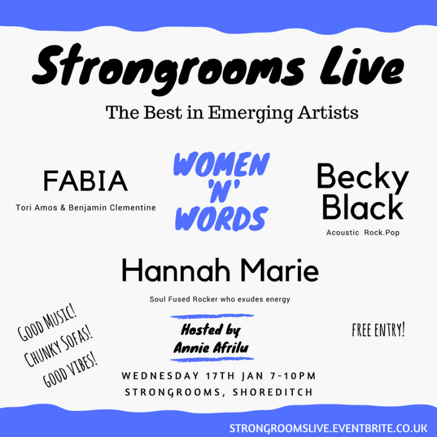 Strongrooms Live: Women 'N' Words – @AnnieAfrilu