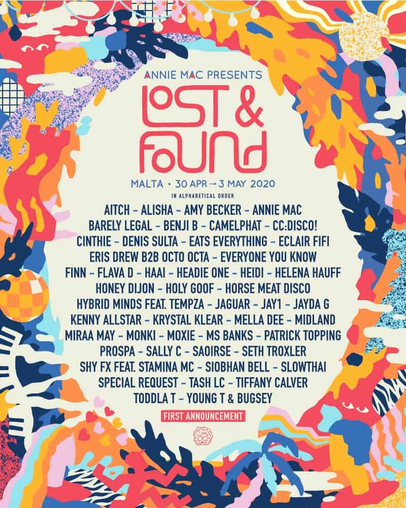 Lost and found 2020 line up