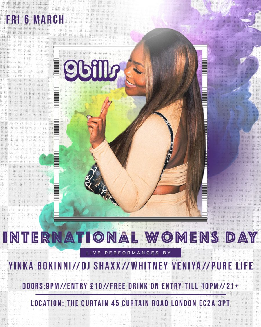 9bills announce first acts for International Women's Day event